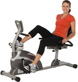 Exerpeutic Recumbent Bike with Heart Rate Monitor